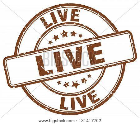 live brown grunge round vintage rubber stamp.live stamp.live round stamp.live grunge stamp.live.live vintage stamp.