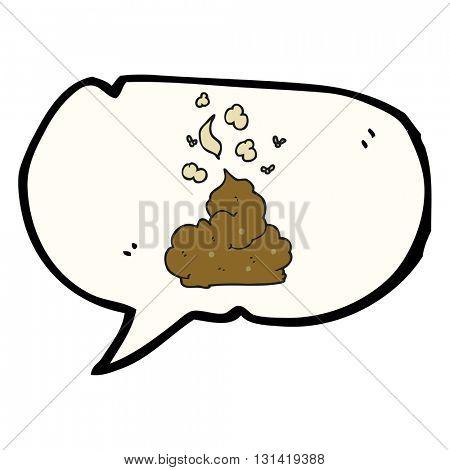 freehand drawn speech bubble cartoon gross poop