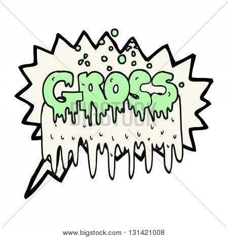 freehand drawn speech bubble cartoon gross symbol