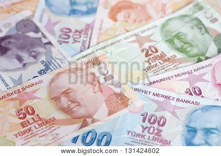 Turkish Lira Banknotes.money Background