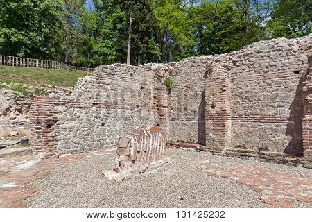 Remainings of The ancient Thermal Baths of Diocletianopolis, town of Hisarya, Plovdiv Region, Bulgaria