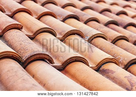 Roof Tiles Pattern. Background and texture patern.