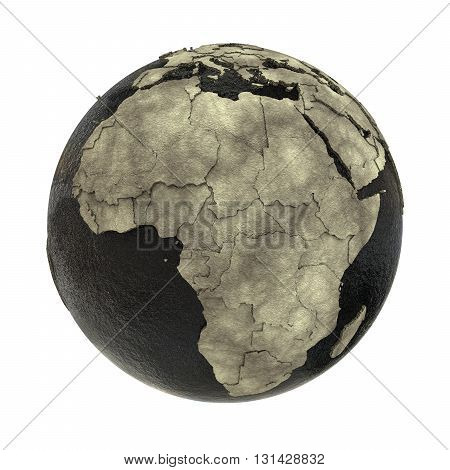 Africa On Earth Of Oil