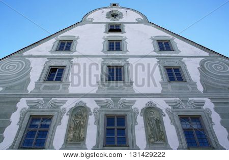 BENEDIKTBEUERN, GERMANY - OCTOBER 19: Famous Benediktbeuern abbey, Germany on October 19, 2014.