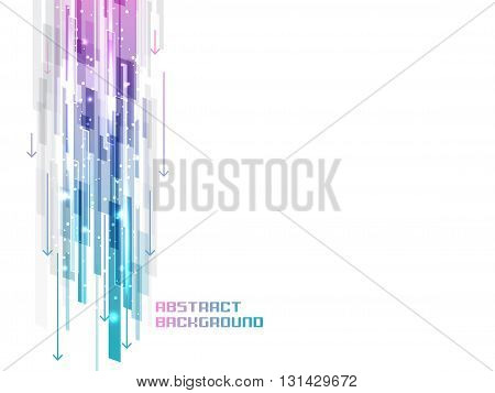 Abstract Background With Shiny Straight Lines, Glitter And Arrows.