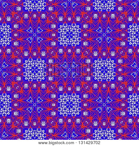 Geometric textile seamless pattern in ethnic style.