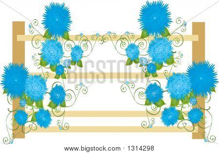 Blueflowersonfence Copy
