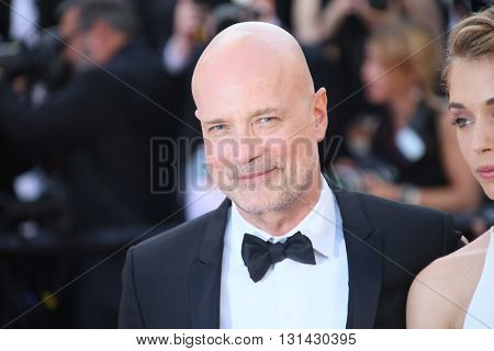 CANNES, FRANCE - MAY 21: Christian Berkel attends the 'Elle' Premiere during the 69th annual Cannes Film Festival at the Palais des Festivals on May 21, 2016 in Cannes, France.