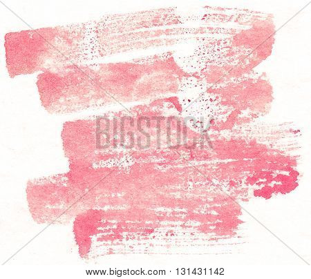 red brushstroke abstract watercolor textures on white background