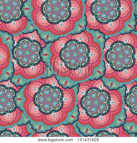 Seamless pattern. Vintage decorative elements. Hand drawn background. Islam, Arabic, Indian, ottoman motifs. Perfect for printing on fabric or paper.can be used for wallpaper, pattern fills