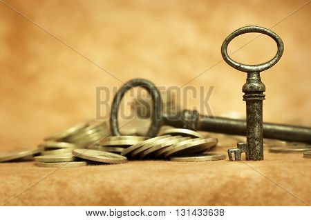 Key - success and winning concept background