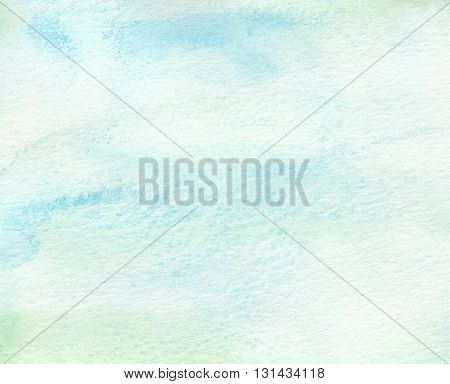 abstract faded blue green tones watercolor abstract background