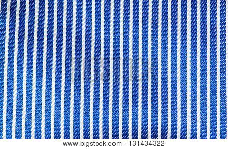 blue and white stripes fabric closeup tablecloth texture