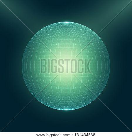 3D Abstract Globe Vector Illustration | EPS10 Design
