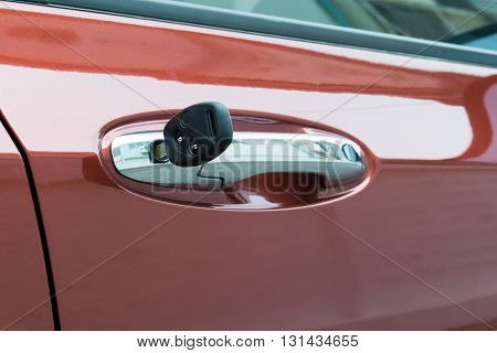 open car door with key. car, door, key, vehicle, lock