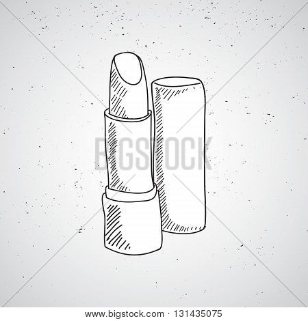 Hand drawn vector doodle sketch of pomade