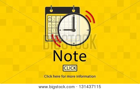 Note Schedule Plan Notice Concept