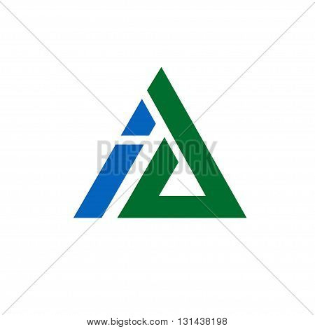 Business corporate letter A and I logo design triangle vector.