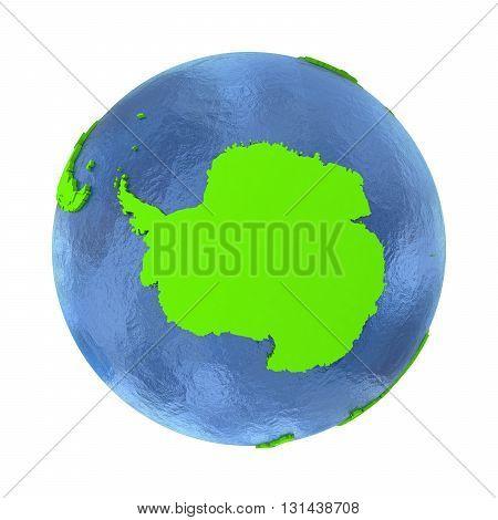 Antarctica On Green Earth