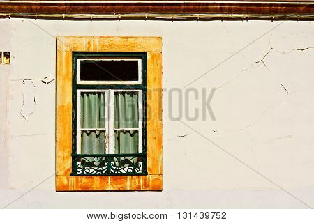The Window of the Old Portugal House