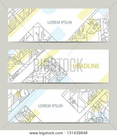 Business card with abstract background for architectural or printing company. Vector background for printing and paper industry.
