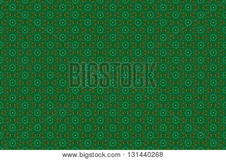 Seamless Geometric Pattern In Retro Green Colors, Vector Illustration Background For Your Design Gol