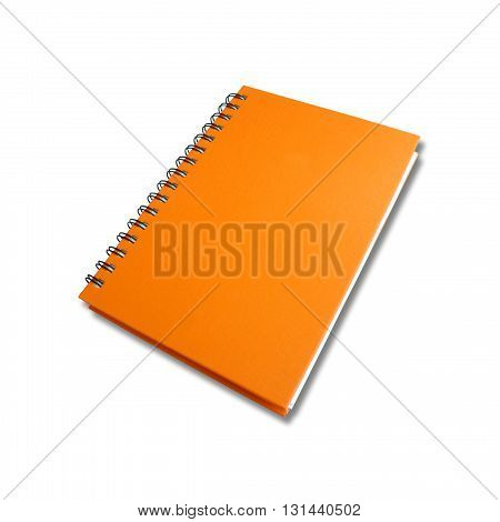Note book open on white color background