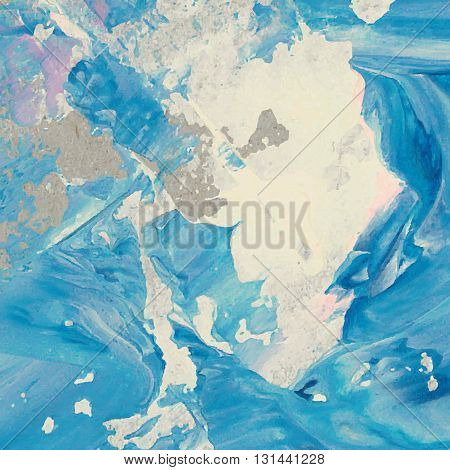 Vector Abstract Background Texture Brush Stroke Hand Painted With Acrylic Paint, Light Blue And Pink