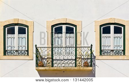 The Old Portuguese Windows with a Balcony