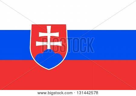 Flag of Slovakia. Slovakia flag vector illustration.