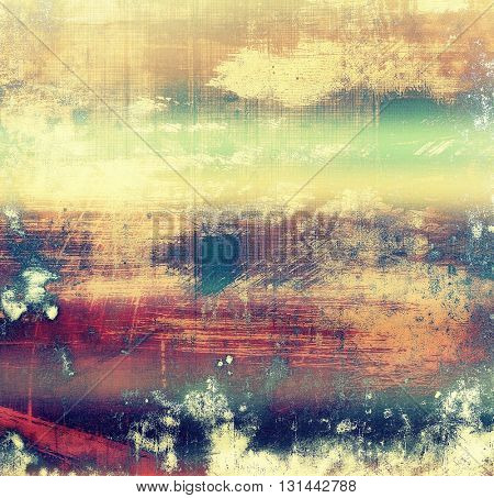Cute colorful grunge texture or tinted vintage background with different color patterns: yellow (beige); brown; green; blue; red (orange); purple (violet)