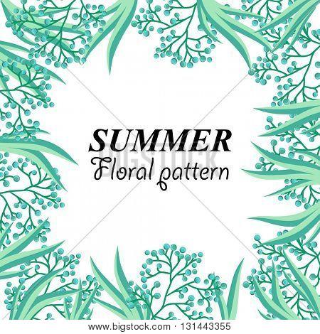 Summer stylish floral pattern