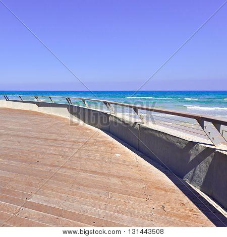 Wood Flooring in the Old Port of Tel Aviv