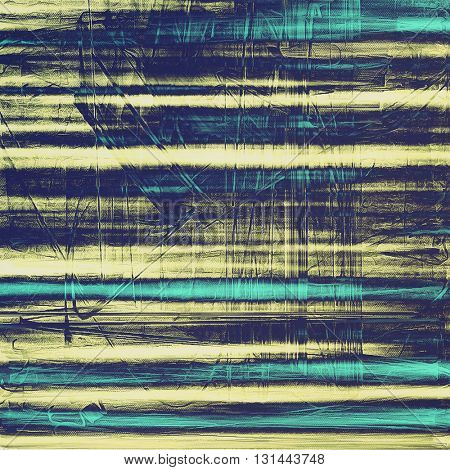Decorative vintage texture or creative grunge background with different color patterns: yellow (beige); gray; blue; cyan