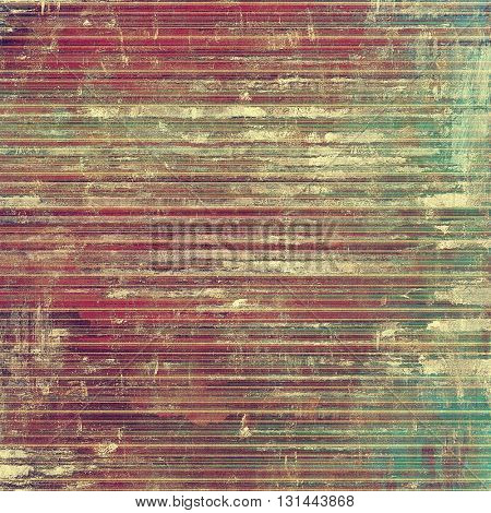 Aged vintage background with weathered texture, grunge design elements and different color patterns: yellow (beige); brown; green; red (orange); purple (violet); pink