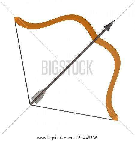 Bow and arrows vector illustration.