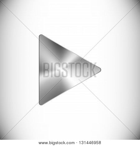The steel icon representing play button for web or mobile devices.