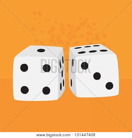 Big casino dices game vector object illustration