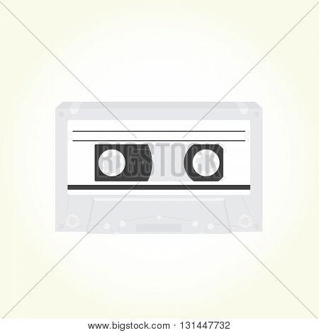 Audio music cassette retro isolated vector illustration
