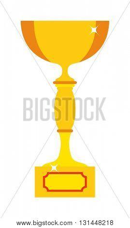 Champion cup vector icon.
