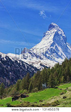 Mountain Matterhorn Landscape In Vertical View