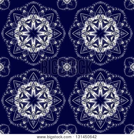 Seamless pattern with floral circle ornament. You can use it for invitations notebook covers phone case postcards cards ceramics carpets and so on. Artwork for creative design.
