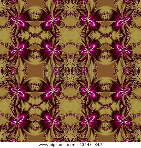 Seamless flower fractal pattern. You can use it for invitations notebook covers phone cases postcards cards ceramics carpets and so on. Artwork for creative design art and entertainment.