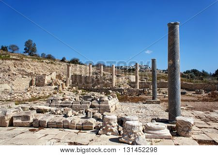 The ruins of the ancient city of Amathus near Limassol Cyprus