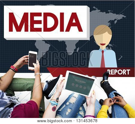 Media Digital Internet Communication Information Concept
