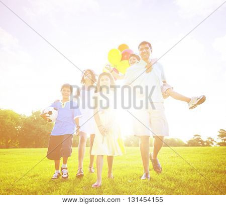 Family Relax Vacation Leisure Concept