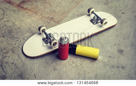 Skate Skateboard Activity Extreme Sport Playing Concept