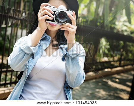 Adventure Camera Photograph Sightseeing Relax Concept