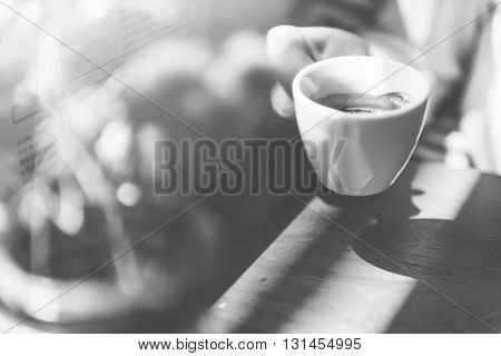 Coffee Cup Cappuccino Restaurant Coffee Shop Concept