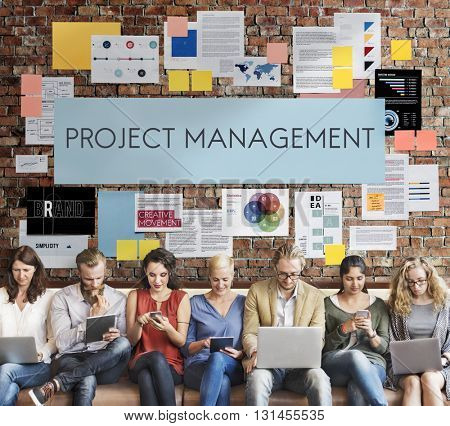 Project Management Organization Skill Concept